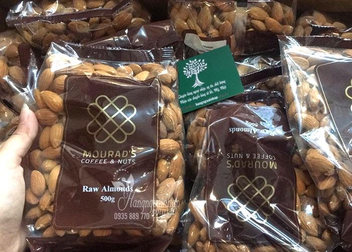 Hạt hạnh nhân Mourad's Raw Almonds 500g của Úc