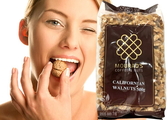 Hạt óc chó Mourad's Californian Walnuts 500g của Úc