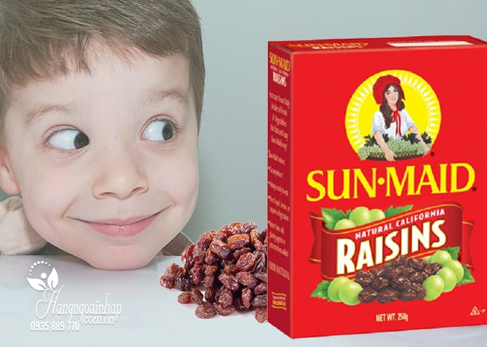 Nho khô Sun Maid Raisins 250g của Mỹ