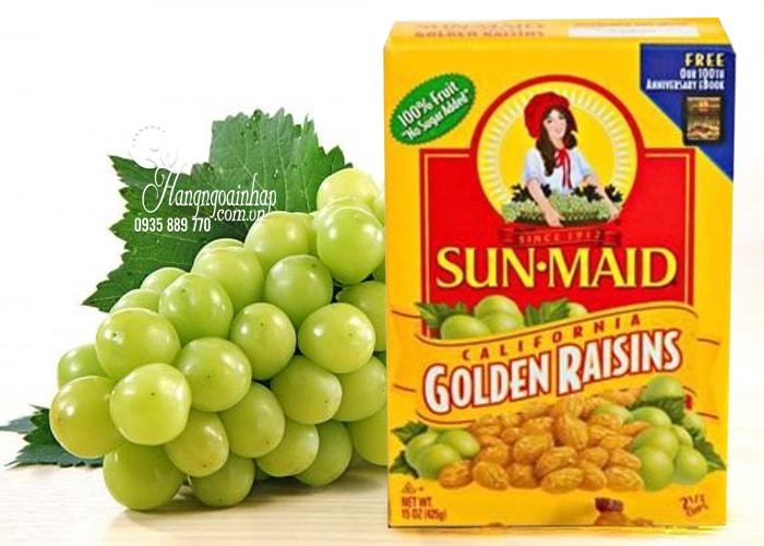 Nho khô hộp vàng Sun Maid Golden Raisins 425g