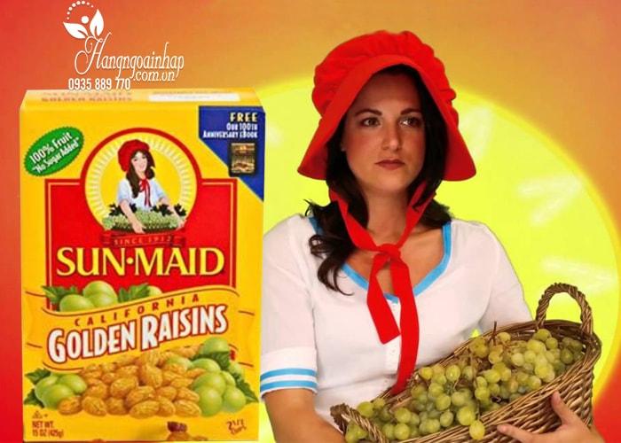 Nho khô hộp vàng Sun Maid Golden Raisins của Mỹ 425g