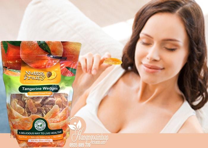 Quýt sấy khô Nutty & Fruity Tangerine Wedges 567g ngon, nhiều vitamin, khoáng chất