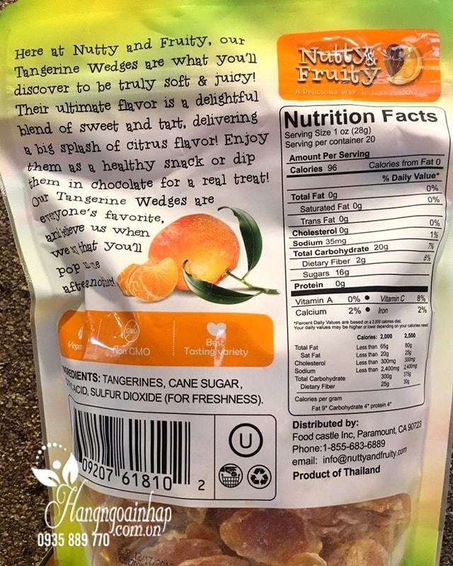 Quýt sấy khô Nutty & Fruity Tangerine Wedges 567g chất lượng cao