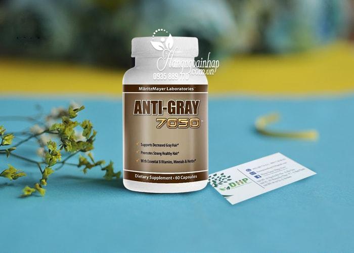 Viên uống trị tóc bạc sớm Anti Gray 7050 hộp 60 viên của Mỹ