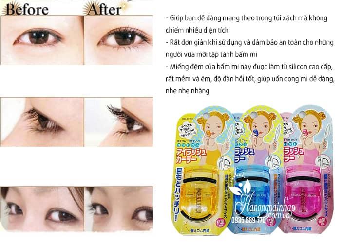 Bấm mi Kai Compact Eyelash Curler của Nhật Bản 4
