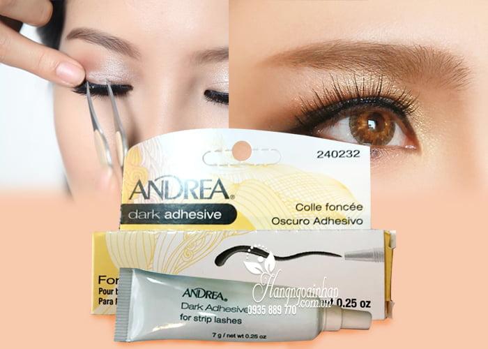 Keo dán mi giả Andrea Dark Adhesive For Strip Lashes 7g chính hãng từ Mỹ