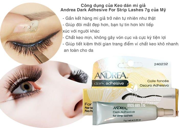 Keo dán mi giả Andrea Dark Adhesive For Strip Lashes 7g-hàng Mỹ