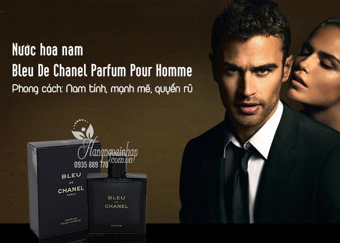 Nước hoa nam Bleu De Chanel Parfum Pour Homme 100ml Pháp 3