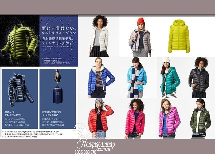 Áo lông vũ có mũ cao cấp Uniqlo Nhật Bản