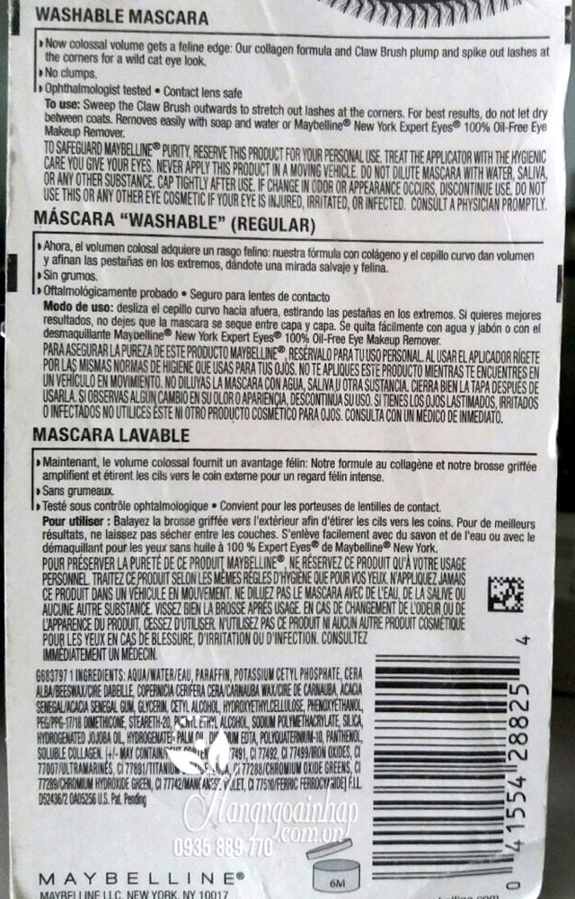 Mascara Maybelline New York - Làm dày và dài mi