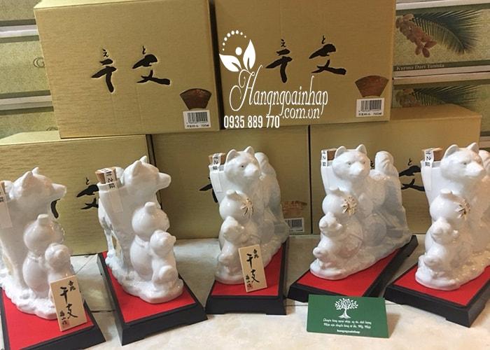 Chai rượu Sake hình con chó trắng Hachiko 720ml Nhật Bản (4)