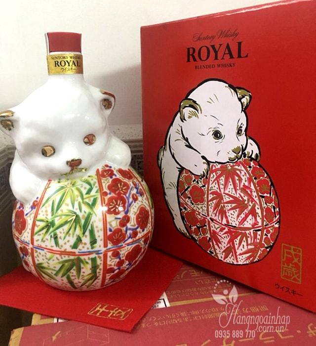 Rượu con chó Whisky Suntory Royal 600ml của Nhật