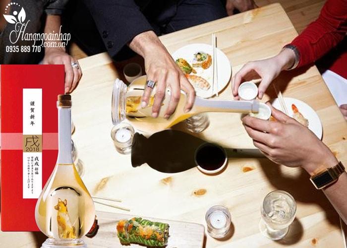 Rượu con chó vàng Yatsushika Sake 500ml nội địa Nhật Bản