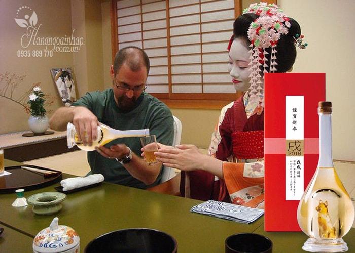 Rượu con chó vàng Yatsushika Sake 500ml Nhật Bản
