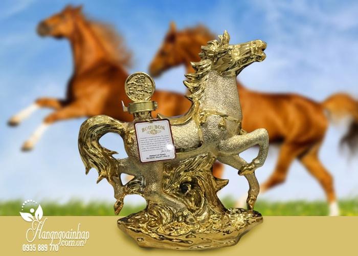 Rượu phong thủy con ngựa Bourbon Whisky 15 năm Pháp