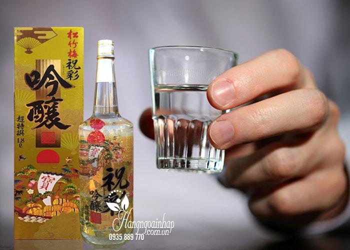 Rượu Sake vẩy vàng Takara Shozu 1,8 lít Nhật Bản