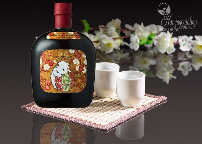 Rượu con chó Suntory Old Whisky 700ml Nhật Bản