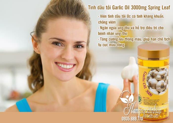 Tinh dầu tỏi Garlic Oil 3000mg Spring Leaf 365 viên của Úc 2