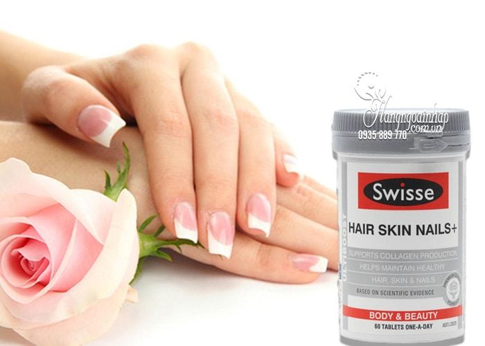 Viên uống Swisse Hair Skin Nails 60 viên đẹp da móng tóc 5