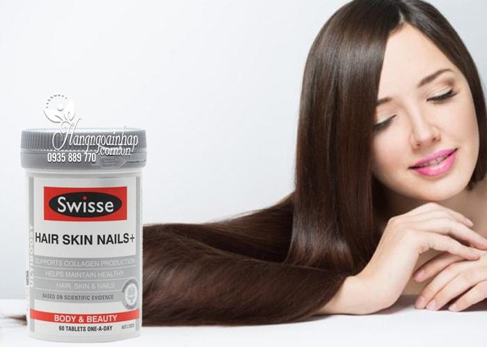 Viên uống Swisse Hair Skin Nails 60 viên đẹp da móng tóc 2
