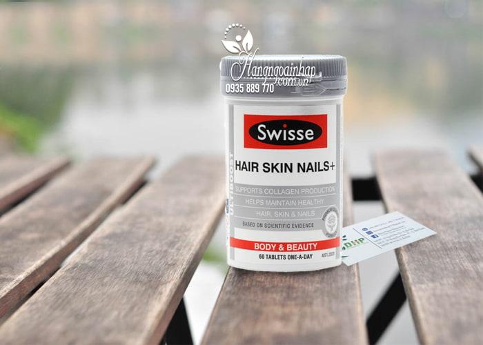 Viên uống Swisse Hair Skin Nails 60 viên đẹp da móng tóc 1