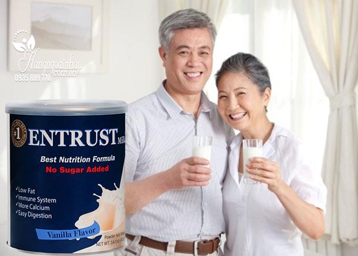 Sữa bột không đường Entrust Milk Hộp 400g của Mỹ dành cho người tiểu đường