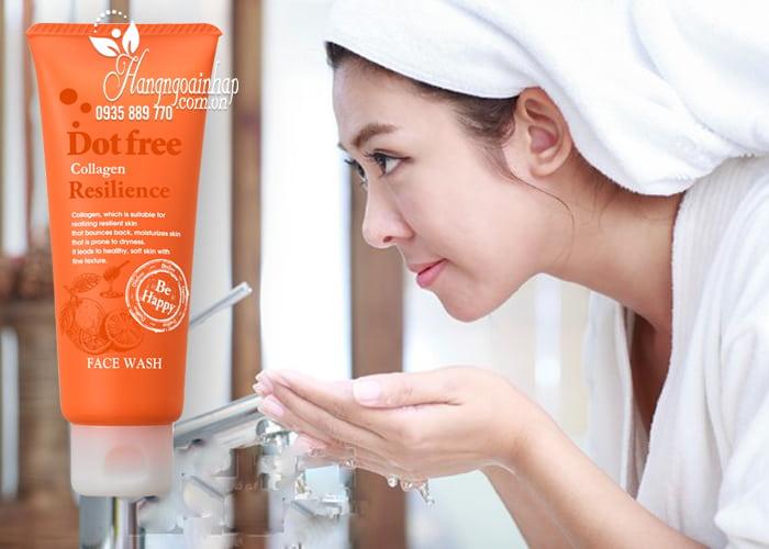 Sữa rửa mặt Collagen tươi Dotfree Resilience Face Wash 100g  3