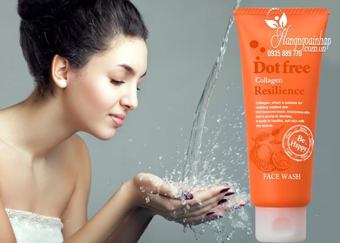 Sữa rửa mặt Collagen tươi Dotfree Resilience Face Wash 100g  4