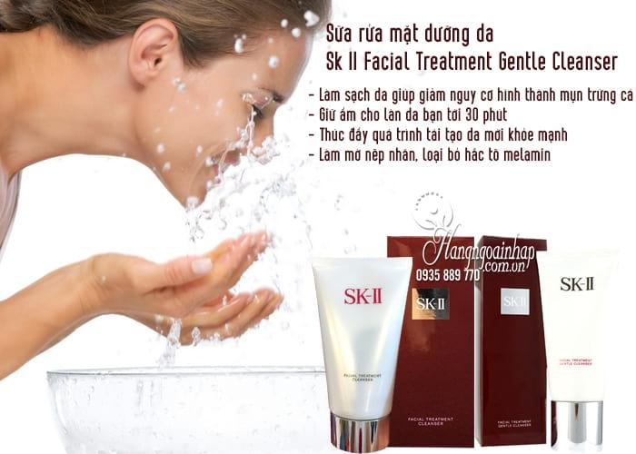 Sữa rửa mặt dưỡng da Sk II Facial Treatment Gentle Cleanser 120g 2
