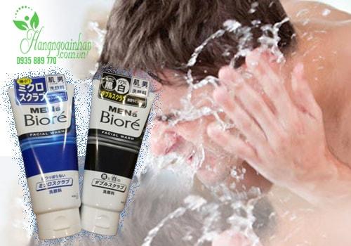 Sửa rửa mặt Men's Biore giúp làm sạch sâu 130g của Nhật