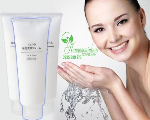 Sửa rửa mặt Muji Face Soap Moisture 120g của Nhật Bản