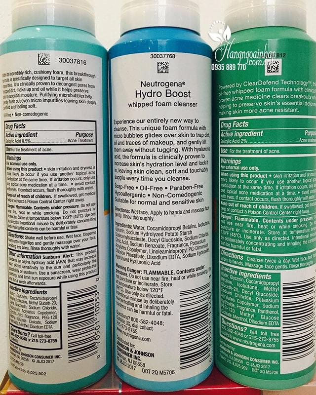 Sữa rửa mặt Neutrogena dạng bọt 141g của Mỹ