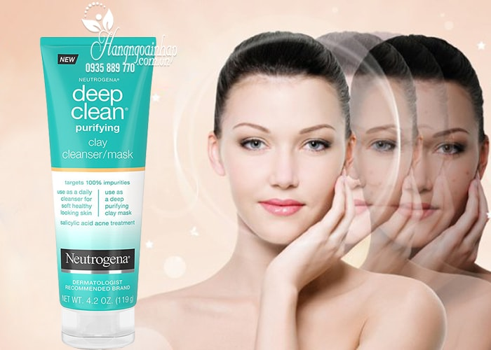 Sữa rửa mặt Neutrogena Deep Clean Cleanser/Mask 119g hàng Mỹ