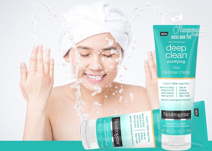 Sữa rửa mặt Neutrogena Deep Clean Cleanser/Mask 119g nhập từ Mỹ