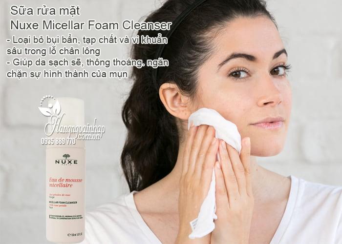 Sữa rửa mặt Nuxe Micellar Foam Cleanser 150ml của Pháp 2