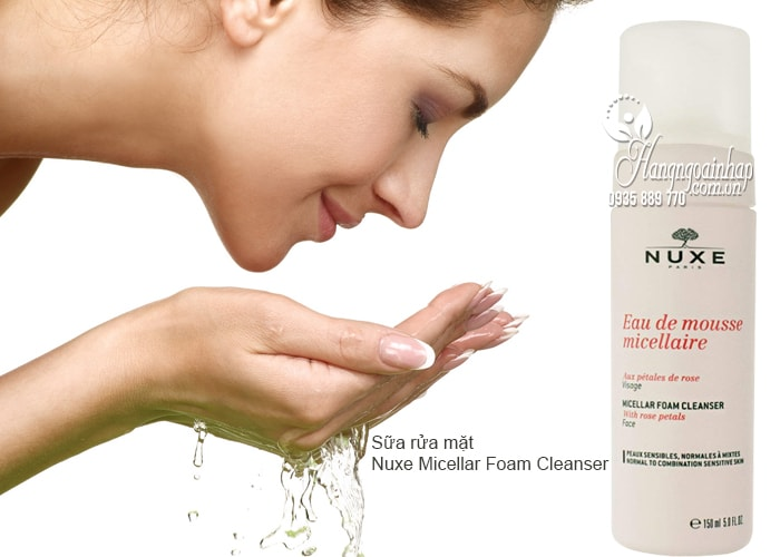 Sữa rửa mặt Nuxe Micellar Foam Cleanser 150ml của Pháp 1