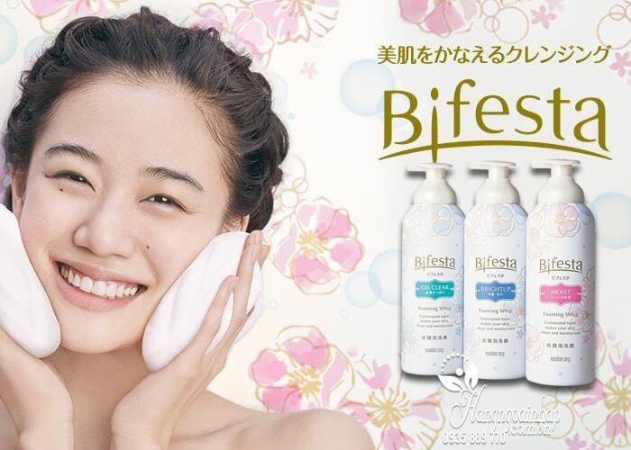 Sữa rửa mặt tạo bọt Bifesta Foaming Whip 180g của Nhật