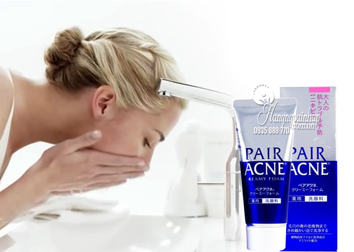 Sữa rửa mặt trị mụn Pair Acne Creamy Foam 80g của Nhật Bản 1