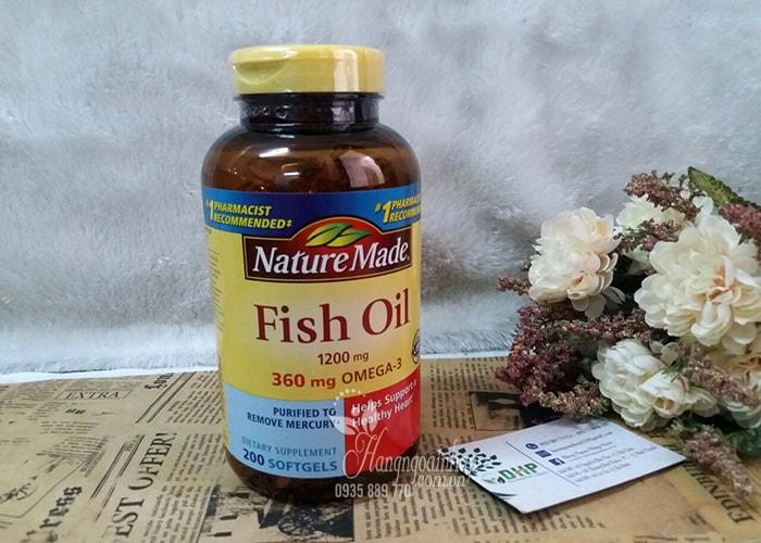 Dầu Cá Nature Made Fish Oil 1200mg Omega 3 Hộp 200 Viên Của Mỹ (1)