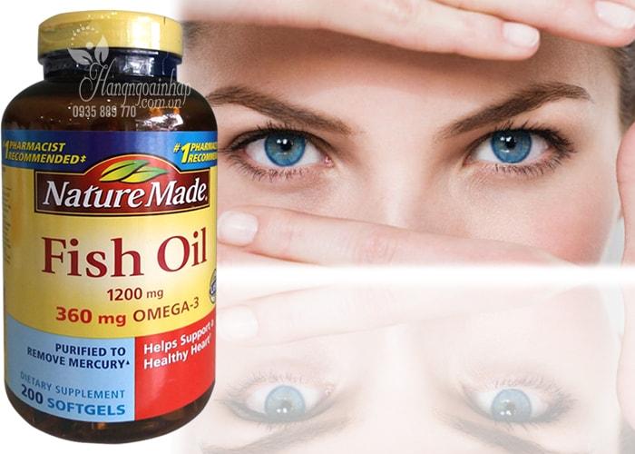 Dầu Cá Nature Made Fish Oil 1200mg Omega 3 Hộp 200 Viên Của Mỹ (2)