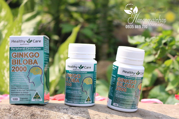 Thuốc bổ não Healthy Care Ginkgo Biloba 2000mg 100 viên của Úc