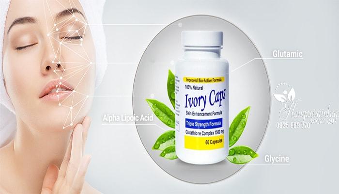Viên thuốc uống trắng da Ivory Caps Glutathione 1500mg của Mỹ (2)