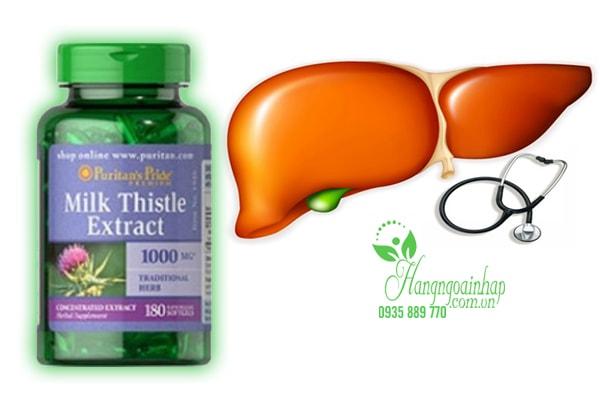 Thuốc bổ gan Milk Thistle Extract Puritan's Pride 1000 mg 180 viên của Mỹ