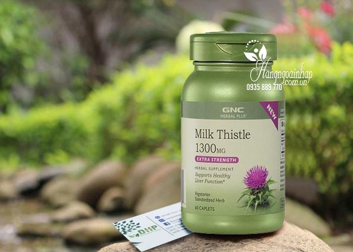 Viên uống tăng cường chức năng gan Milk Thistle 1300mg GNC của Mỹ