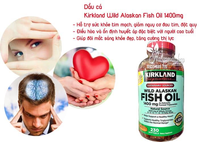 Dầu cá Kirkland Wild Alaskan Fish Oil 1400mg hộp 230 viên 2