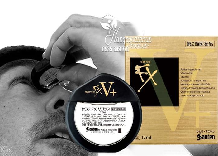 Thuốc nhỏ mắt Santen FX vàng 12ml chính hãng Nhật Bản 2