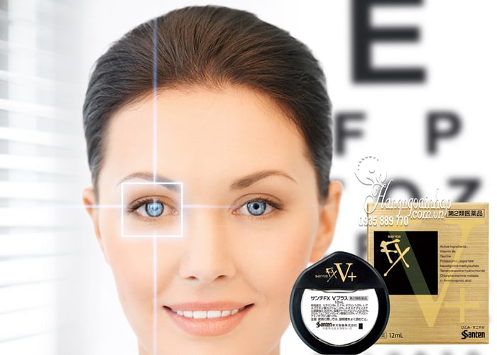 Thuốc nhỏ mắt Santen FX vàng 12ml chính hãng Nhật Bản 4