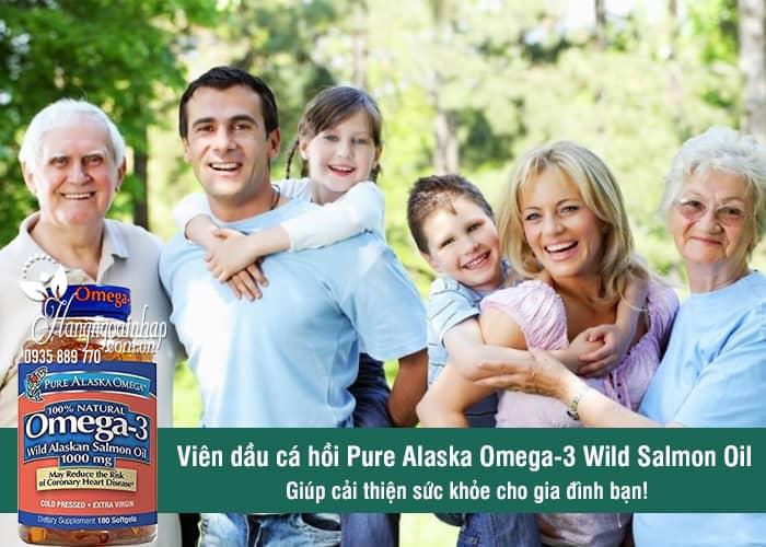 Viên dầu cá hồi Pure Alaska Omega-3 Wild Salmon Oil 1000mg của Mỹ 1