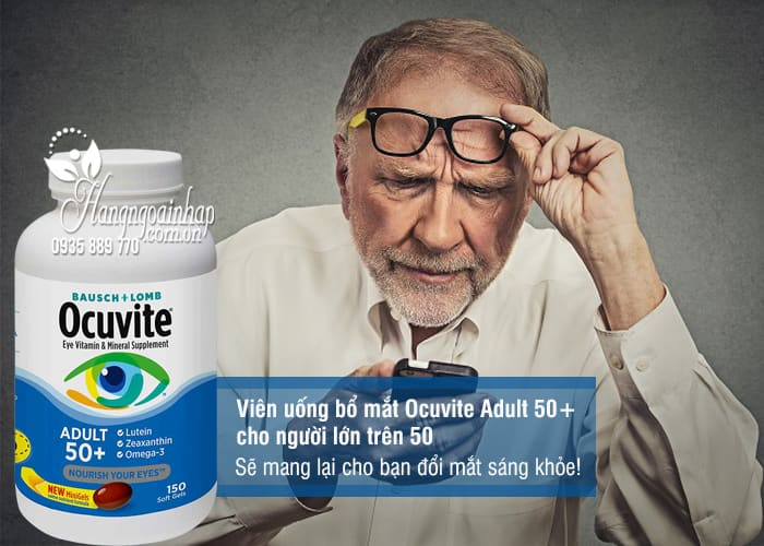 Viên uống bổ mắt Ocuvite Adult 50+ cho người lớn trên 50 1