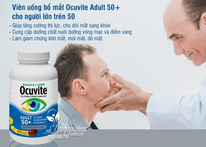 Viên uống bổ mắt Ocuvite Adult 50+ cho người lớn trên 50 2